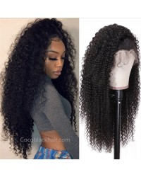 Jody09-Spiral curly 370 wig pre plucked Brazilian virgin human hair