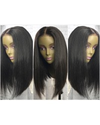 Diana- Brazilian virgin pre plucked bob straight full lace wig