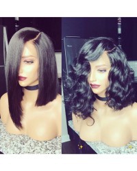 Emily18-Brazilian virgin wave bob 360 lace frontal wig
