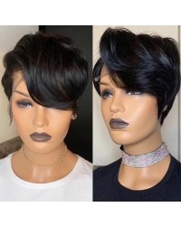 Hope-Indian virgin 13x6 glueless lace front wig short hair summer bob hair
