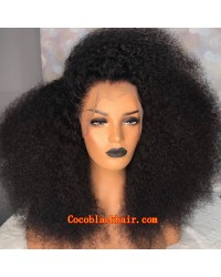 Emily52-Pre plucked Brazilian virgin tiny curly 360 wig
