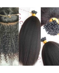 Tips extension 10A grade microlinks Brazilian virgin human hair