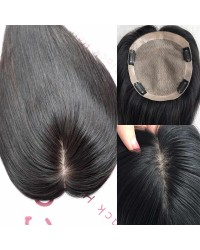 6.5inchesx6inches silk base topper hair pieces-PU around[TP09]