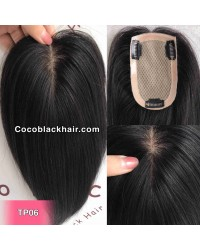 4inchesx3inches Clips in silk base topper hair pieces[TP06]