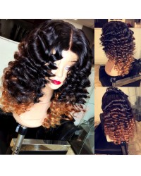 Demy-Chinese virgin wand curly hair full lace wig