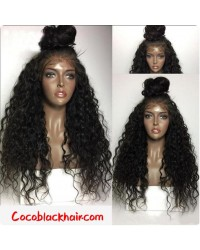 Emily19- Brazilian virgin water wave 360 lace frontal wig