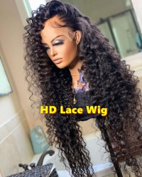 Marcy-HD Lace 13x6 Wig water wave Brazilian human hair glueless lace front wig Pre plucked hairline