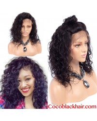 Emily16- Brazilian virgin wet curly 360 lace frontal wig