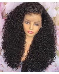Jody14-wet curly 370 wig pre plucked Brazilian virgin human hair