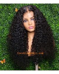 【50% Off】Angela 12-5x5 HD lace closure wig Wet Curly 10A Brazilian virgin human hair 150% density