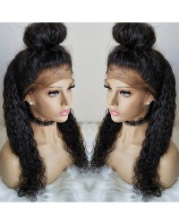 Alisa- Brazilian virgin pre plucked wet wave full lace wig