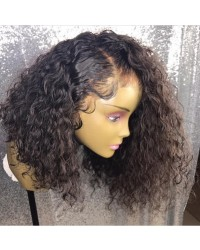 Zoey- Brazilian virgin pre plucked wet wave bob full lace wig