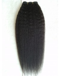 kinky straight remy hair wefts