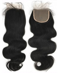 Yaki body wave silk base top closure