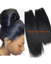 Brazilian virgin human hair yaki straight wefts