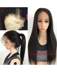 Robin- Brazilian virgin pre plucked yaki straight full lace wig