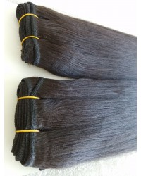 Brazilian virgin human hair light yaki wefts