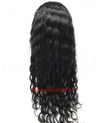 Beatty- Burmese virgin hair 14mm curly silk top full lace wig
