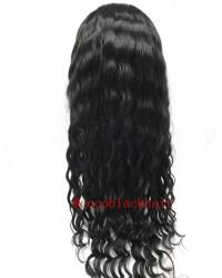 Beatty-Burmese virgin hair 14mm curly silk top full lace wig bleached knots