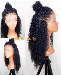 Emily05-pre plucked Brazilian virgin exotic curly 360 wig