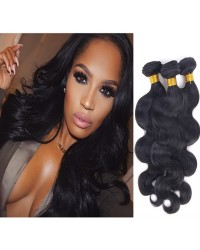 Brazilian virgin 3 bundles body wave hair weaves