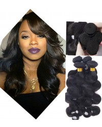 Chinese virgin 4 bundles body wave hair weaves