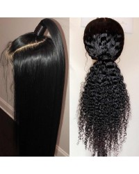 Nova-Pre plucked Brazilian 150% density 13x6 glueless lace front wig