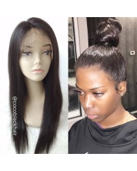 Allie-Indian Remy Natural Straight Full Lace Wig