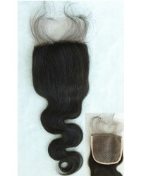 Body wave silk base top closure