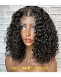 Angela 09-5x5 HD lace closure wig bomb deep wave 10A grade Brazilian virgin human hair