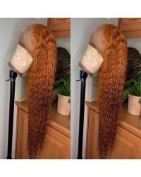 Emily67-Pre plucked brown curly Brazailian virgin hair 360 wig