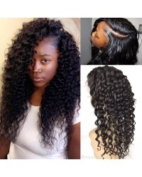 Carey- Brazilian virgin deep wave full lace wig