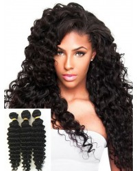Chinese virgin 3 bundles deep wave hair weaves
