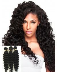 Chinese virgin 3 bundles deep wave hair weaves