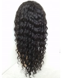 Karol- Burmese virgin hair 10mm curly silk top full lace wig baby hairs