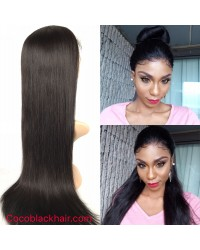 Emily02-Brazilian virgin silky straight 360 lace frontal wig in stock