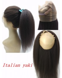 Brazilian Virgin Italian Yaki Kinky straight 360 Lace Frontal