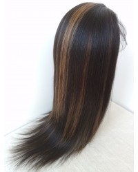 Lucy- Brazilian virgin hair T1b/30 highlight full lace wig