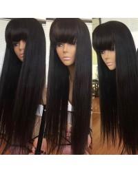 Rachel-Brazilian virgin Glueless full lace wig with Chinese bangs