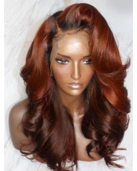 Emily70-Pre plucked Brazilian virgin loose big wave ombre color 360 wig