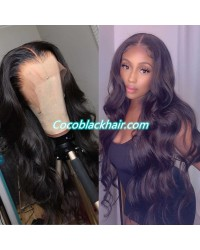 Jody05-loose wave 370 wig pre plucked Brazilian virgin human hair