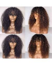 Emily51-Pre plucked Brazilian virgin natural curls 360 wig