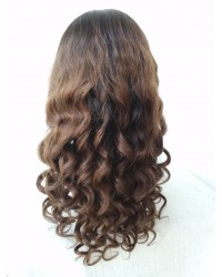 Odom- Brazilian virgin ombre hair Glueless full lace wig with 2x4 silk top