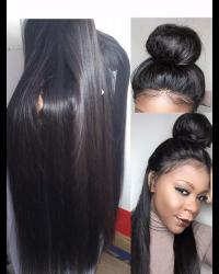 Rita-Brazilian virgin Natural straight full lace wig