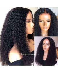 Angela 02-5x5 HD lace closure wig Spiral Curl 10A grade Brazilian virgin human hair