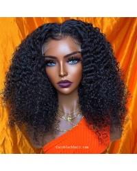 Angela 02-5x5 HD lace closure wig Spiral Curl 10A grade Brazilian virgin human hair