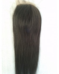 Silk straight silk base top closure