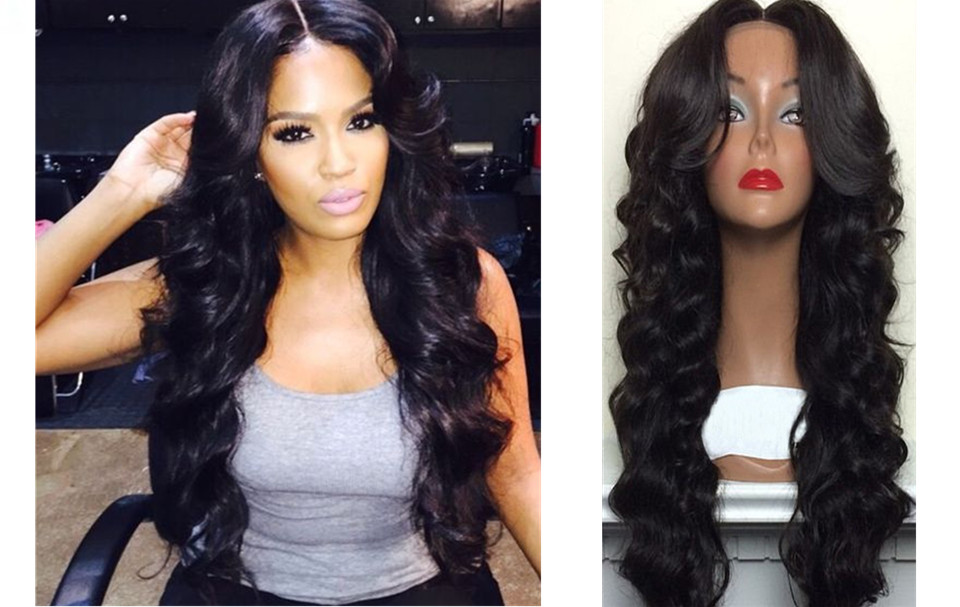 Brazilian Virgin Human Hair Full Lace Wig Loose Wave Lace Wigs With