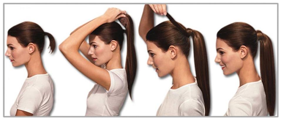100 virgin human hair ponytail human hair drawstring ponytail steps to wear the hair ponytail pmusecretfo Images